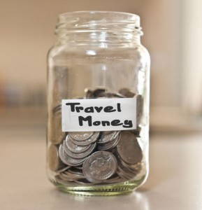travel money savings jar