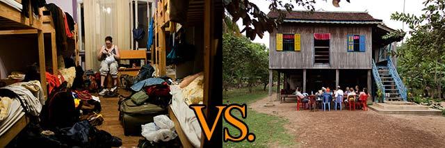 hostel-vs-Homestay