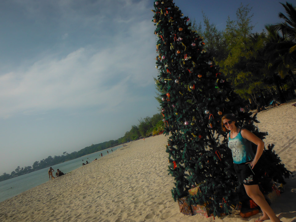 Beach Christmas in Sihanoukville, Cambodia.