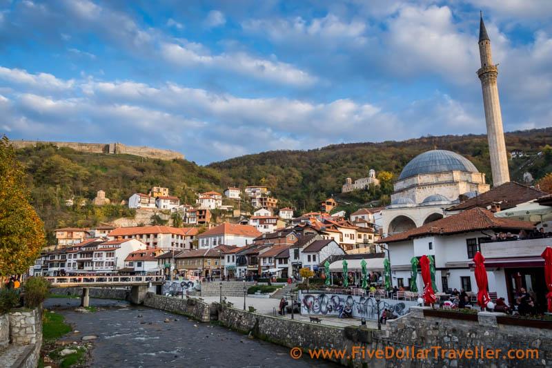 Prizren, Kosovo: Fort, Mosque and river.