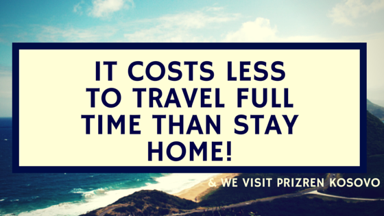 it costs less to travel than to stay at home!