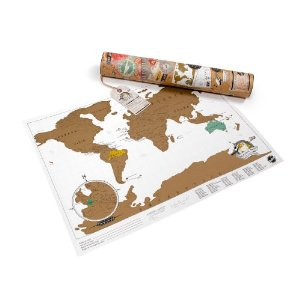 cool travel gifts 2015 - scratch map